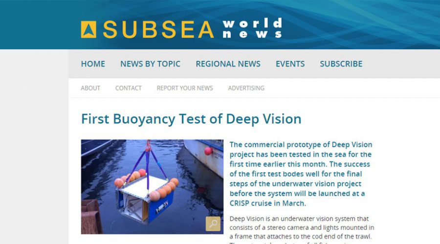First Buoyancy Test of Deep Vision